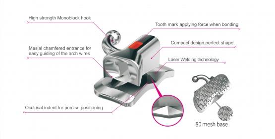 DentoSmile 1st Molar Bondable Convertible Double Roth Tube