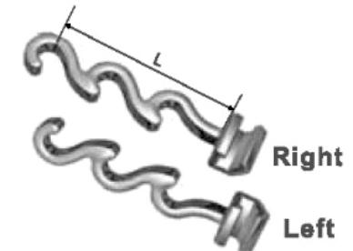 DentoSmile Spiral Crimpable Hook